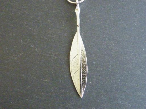 Leaf skeleton pendant