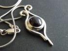 Garnet cabochon pendant