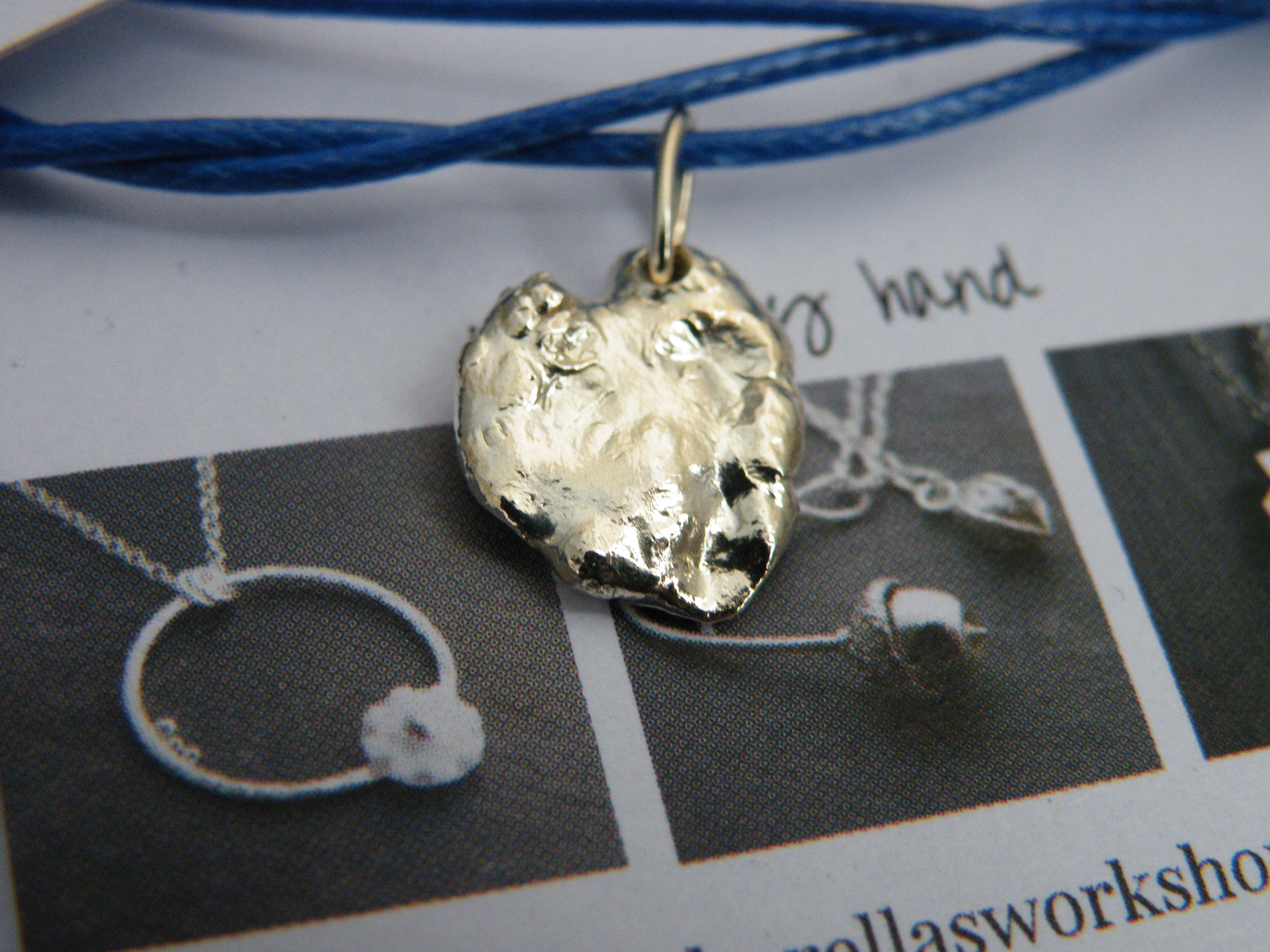 Pendant water cast heart £10